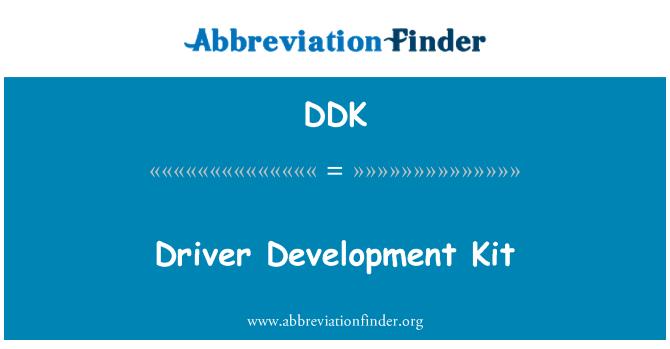 DDK: Driver Development Kit