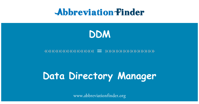 DDM: Data Directory Manager