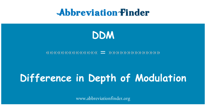 DDM: Difference in Depth of Modulation