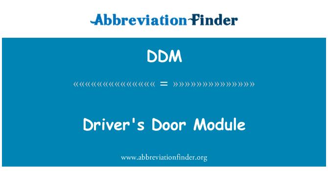 DDM: Driver's Door Module