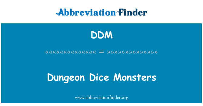 DDM: Dungeon Dice Monsters