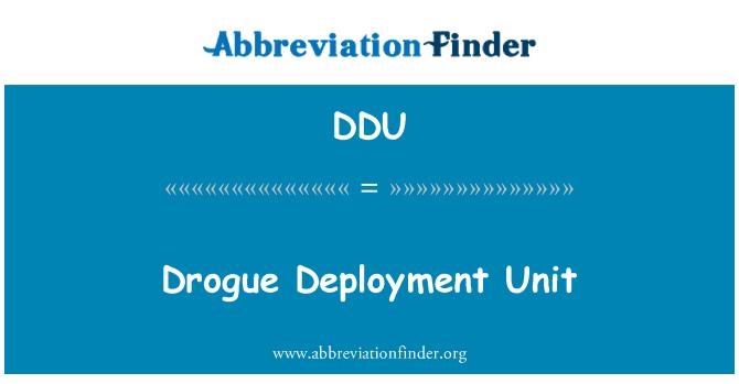 DDU: Drogue Deployment Unit