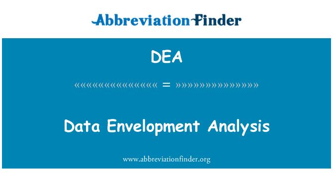 DEA: Data Envelopment Analysis
