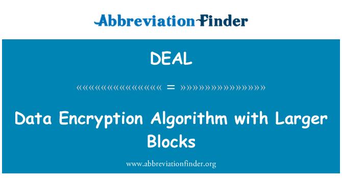 DEAL: Algoritmo de cifrado de datos con bloques más grandes