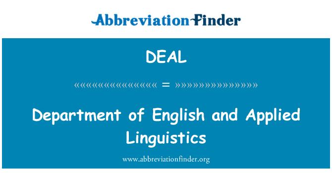 DEAL: Departamento de inglés y lingüística aplicada