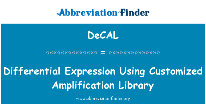 DeCAL: Differential Expression Using Customized Amplification Library