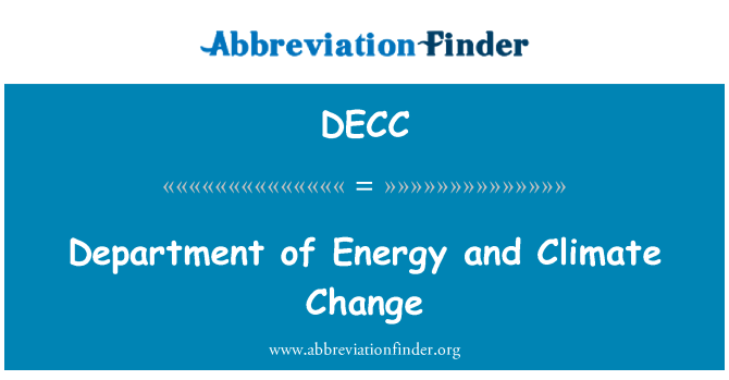 DECC: Department of Energy and Climate Change