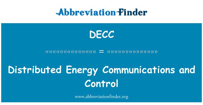 DECC: Elosztott energia kommunikációs és vezérlő