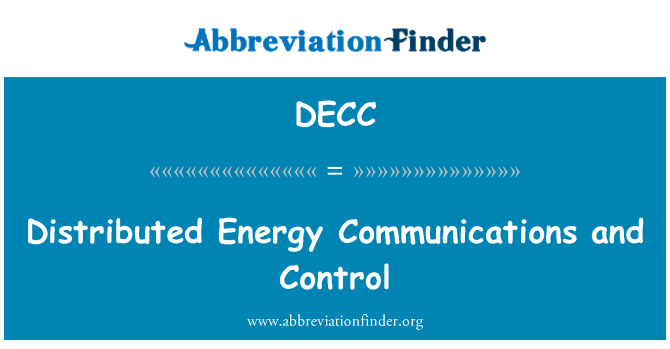 DECC: สื่อสารแบบกระจายพลังงานและการควบคุม