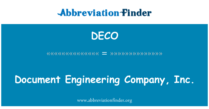 DECO: Documento Engineering Company, Inc.