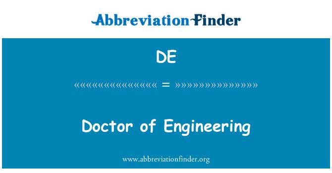 DE: Doctor of Engineering
