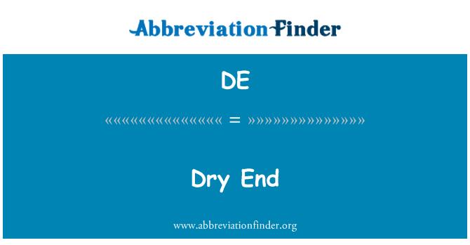 DE: Dry End