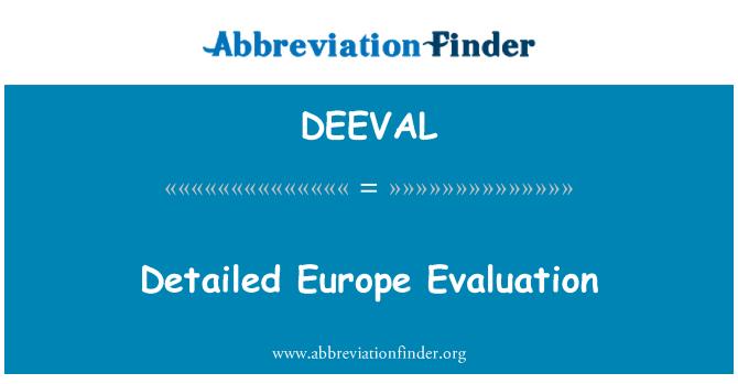 DEEVAL: 详细的欧洲评价
