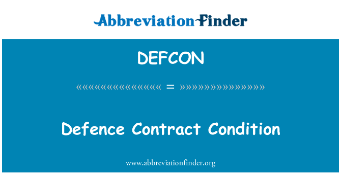 DEFCON: Defence Contract Condition