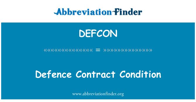 DEFCON: Kaitse lepingu tingimus