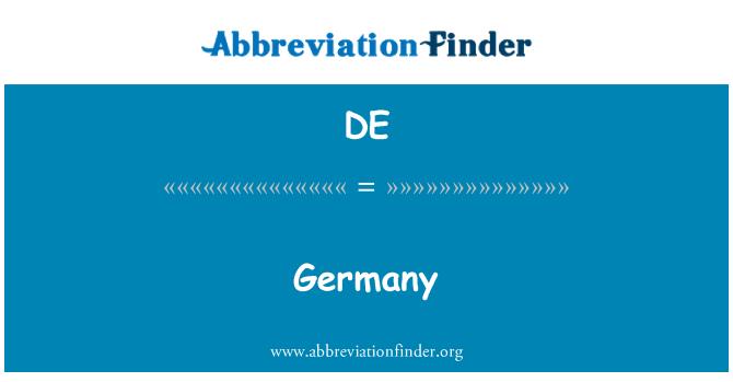 DE: Germany