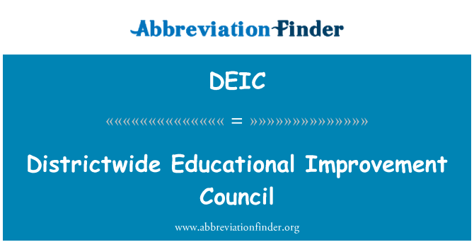 DEIC: Districtwide Educational Improvement Council