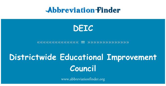 DEIC: Districtwide Educational Improvement Council