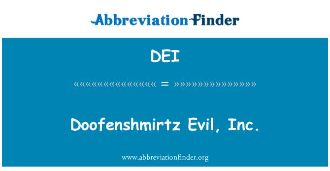 DEI: Doofenshmirtz Evil, Inc.
