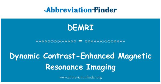 DEMRI: Dinamik kontrast gelişmiş manyetik rezonans görüntüleme