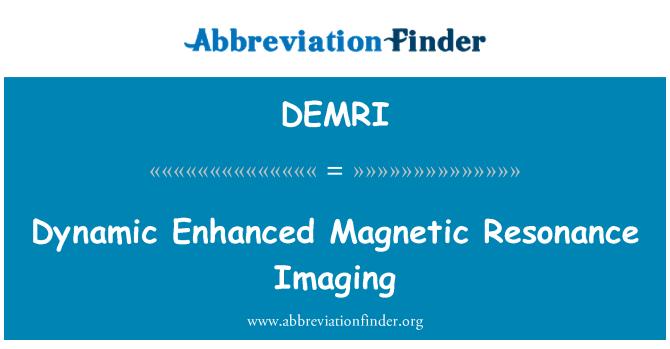 DEMRI: Dinamik manyetik rezonans görüntüleme gelişmiş