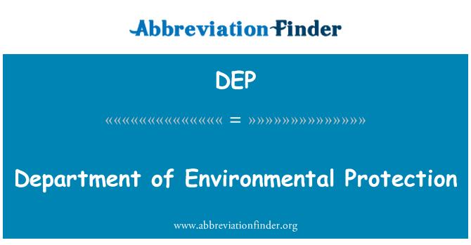 DEP: Keskkonnakaitse osakond