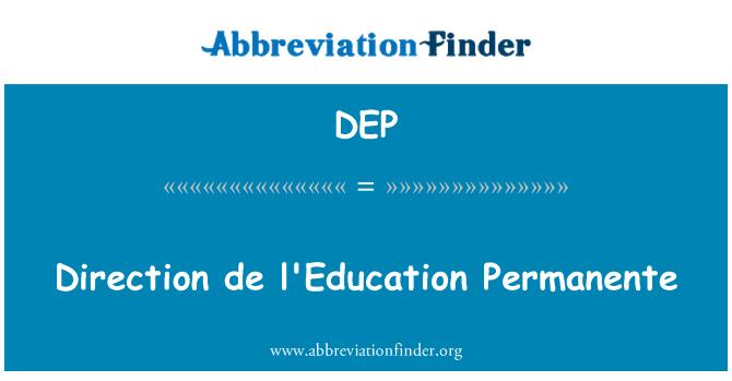DEP: Suund de l'Education Permanente