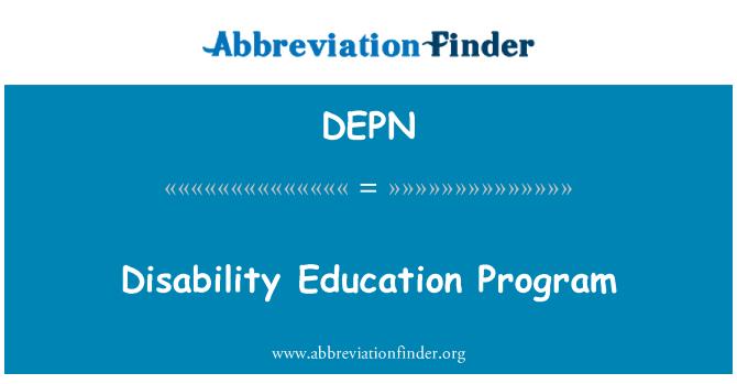 DEPN: Program Pendidikan Hilang Upaya