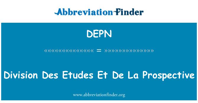DEPN: 司 Des 练习曲 Et De La 前瞻性