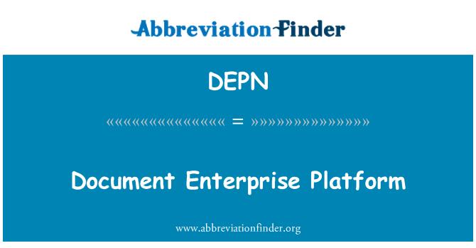 DEPN: 文档的企业平台