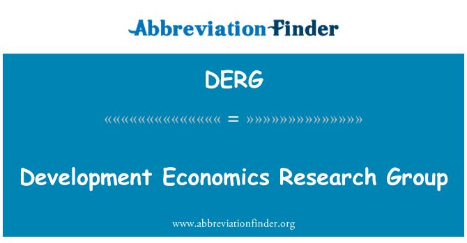 DERG: Grupo de investigación de economía de desarrollo