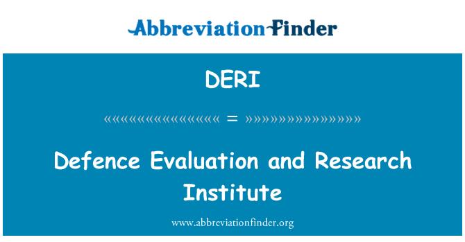 DERI: Kaitseväe hindamis- ja uurimisinstituut