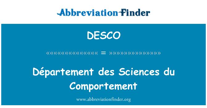 DESCO: Département des Sciences du Comportement