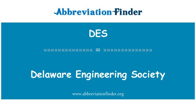 DES: Delaware Engineering Society