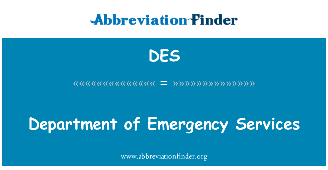 DES: Department of Emergency Services