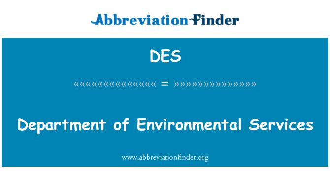 DES: Department of Environmental Services
