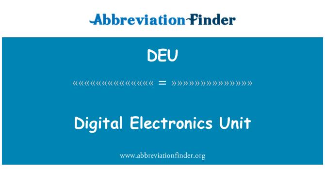 DEU: Unidad electrónica digital
