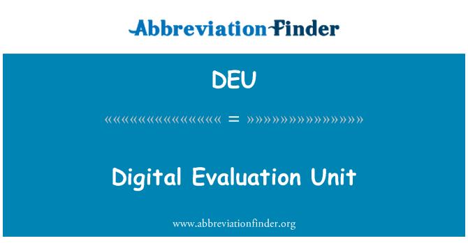 DEU: Unidad de evaluación digital