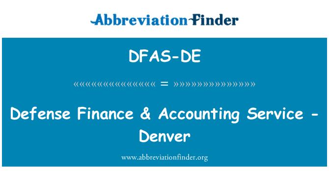 DFAS-DE: Defensa finanzas & servicio de contabilidad - Denver