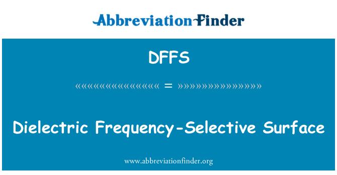 DFFS: Dielektrik frekans seçici yüzey