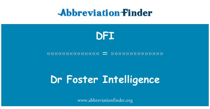 DFI: Dr Foster Intelligence