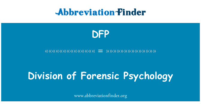 DFP: Division of Forensic Psychology