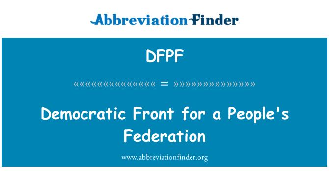 DFPF: Frente democrático para la Federación de los pueblos