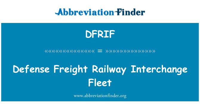 DFRIF: Defense Freight Railway Interchange Fleet