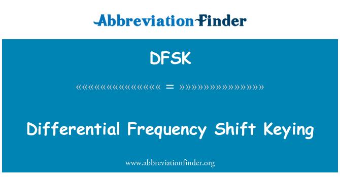 DFSK: El afinar de cambio de frecuencia diferencial