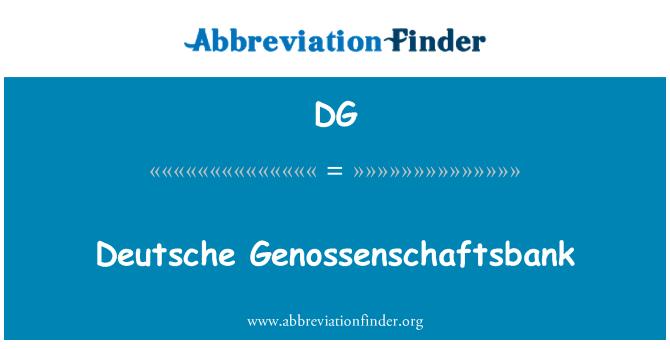 DG: Deutsche Genossenschaftsbank