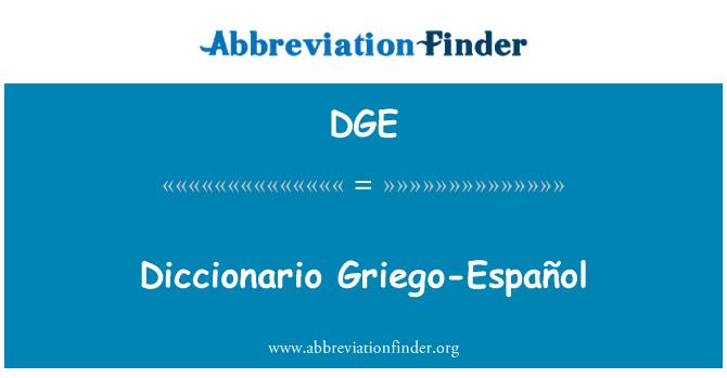 DGE: Diccionario Griego-Español