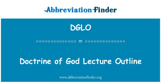 DGLO: Doctrina de Dios Conferencia contorno