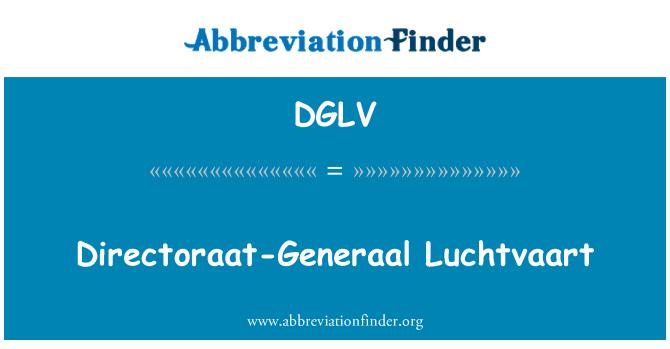 DGLV: Directoraat-Generaal Luchtvaart