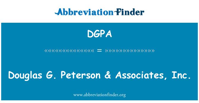 DGPA: Douglas G. Peterson & Associates, Inc.